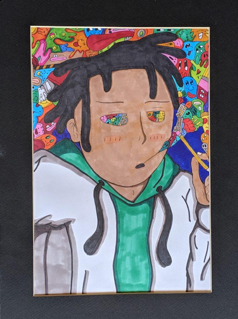 """""""Art is a Drug"""" by Cynncear Easley"""